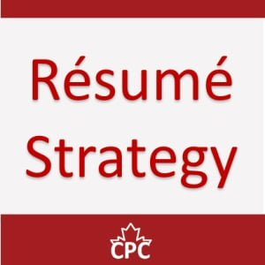 CPC Resume Strategy