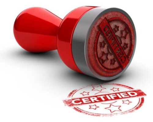 """Benefits of Certification — """"Certified"""" rubber stamp"""