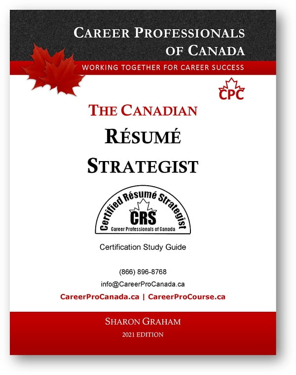 CRS The Canadian Resume Strategist Certification eGuide