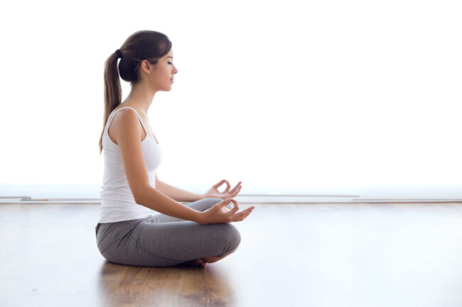 alleviate job search stress with yoga